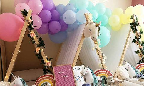 Balloon Garland's for your Children's Sleepover Parties in Hertfordshire